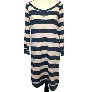 Roxy | striped jersey knit dress Sz Large